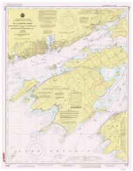Cape Vincent to Allan Otty Shoal 1986 St Lawrence River Nautical Chart Reprint 18 NY/Ontario