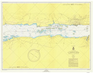 Morristown to Butternut Bay 1949 St Lawrence River Nautical Chart Reprint 113 NY/Ontario