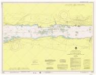 Morristown to Butternut Bay 1975 St Lawrence River Nautical Chart Reprint 113 NY/Ontario