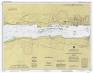 Morristown to Butternut Bay 1985 St Lawrence River Nautical Chart Reprint 113 NY/Ontario