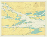 Ironsides Island to Bingham Island 1946 St Lawrence River Nautical Chart Reprint 115 NY/Ontario