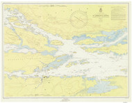 Ironsides Island to Bingham Island 1952 St Lawrence River Nautical Chart Reprint 115 NY/Ontario