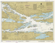 Ironsides Island to Bingham Island 1982 St Lawrence River Nautical Chart Reprint 115 NY/Ontario