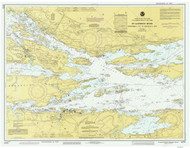 Ironsides Island to Bingham Island 1986 St Lawrence River Nautical Chart Reprint 115 NY/Ontario