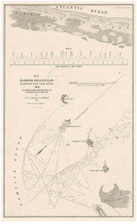 Entrance to Core Sound - Harbor Island Bar - Pamlico Sound, North Carolina, 1839 - Old Map Reprint - 1843 Regional Section 2