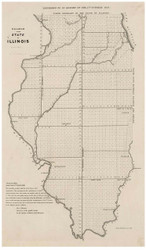 Diagram of the State of Illinois, 1841 - Old Map Reprint - 1843 Regional Section 6
