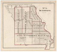 Missouri - Land Office Map, 1843 - Old Map Reprint - 1843 Regional Section 7