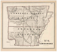 Arkansas - Land Office Map, 1843 - Old Map Reprint - 1843 Regional Section 7