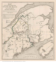 Maine and the Maritime Provinces, 1843 - Old Map Reprint - 1843 Regional Section 8
