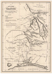 Isthmus of Tehuantepec, Mexico, 1828 - Old Map Reprint - 1843 Regional Section 10