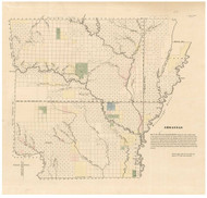 Arkansas Surveying District, 1837 - Old Map Reprint - 1843 Regional Section 11