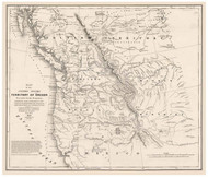Oregon Territory, 1838 - Old Map Reprint - 1843 Regional Section 11