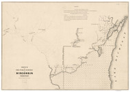 Wisconsin Territory, 1841 - Old Map Reprint - 1843 Regional Section 12