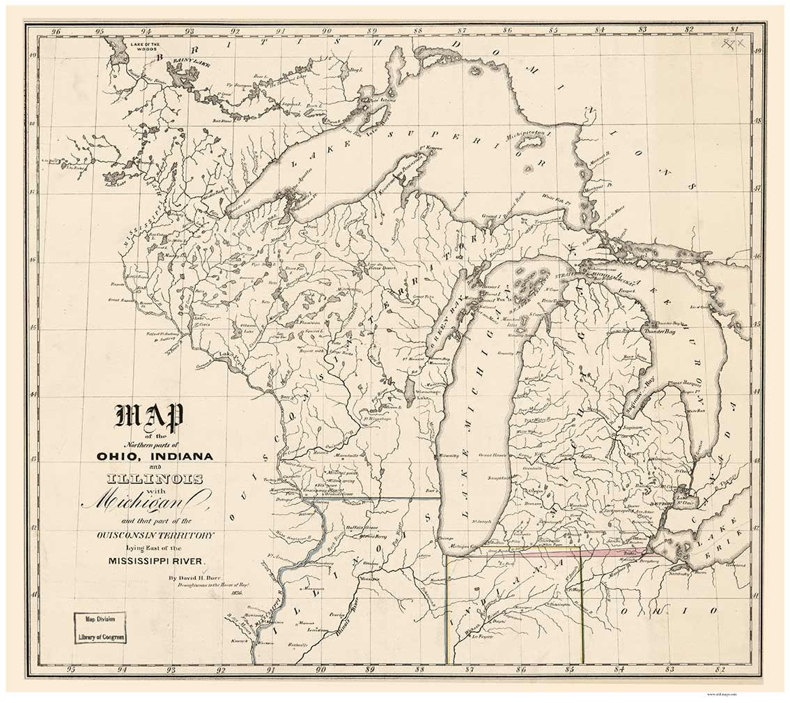 Wisconsin, Michigan and parts of Illinois, Indiana, and ...