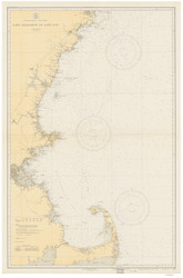Cape Elizabeth to Cape Cod 1932 Nautical Map 1:210,100 sc Reprint BA 50