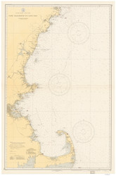 Cape Elizabeth to Cape Cod 1935 Nautical Map 1:210,100 sc Reprint BA 50