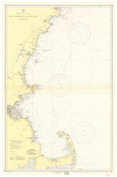 Cape Elizabeth to Cape Cod 1938 Nautical Map 1:210,100 sc Reprint BA 50
