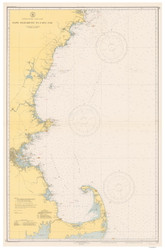 Cape Elizabeth to Cape Cod 1941 Nautical Map 1:210,100 sc Reprint BA 50