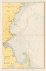 Cape Elizabeth to Cape Cod 1950 Nautical Map 1:210,100 sc Reprint BA 50