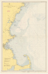 Cape Elizabeth to Cape Cod 1951 Nautical Map 1:210,100 sc Reprint BA 50