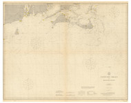 Nantucket Shoals to Montauk Point 1912 Nautical Map unknown sc Reprint BA 51