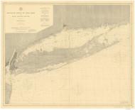 Montauk Point to New York and LI Sound 1896 Nautical Map unknown sc Reprint BA 52