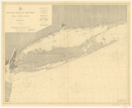 Montauk Point to New York and LI Sound 1896 Nautical Map unknown sc Reprint BA 52