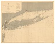 Montauk Point to New York and LI Sound 1899 Nautical Map unknown sc Reprint BA 52
