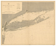 Montauk Point to New York and LI Sound 1899 Nautical Map unknown sc Reprint BA 52