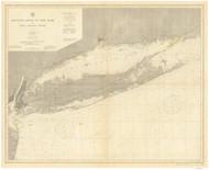 Montauk Point to New York and LI Sound 1911 Nautical Map unknown sc Reprint BA 52