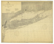 Montauk Point to New York and LI Sound 1915 Nautical Map unknown sc Reprint BA 52