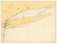 Montauk Point to New York and LI Sound 1918 Nautical Map unknown sc Reprint BA 52