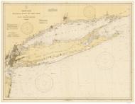 Montauk Point to New York and LI Sound 1931 Nautical Map unknown sc Reprint BA 52