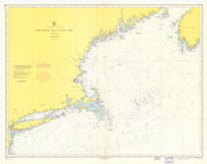 West Quoddy Head to New York 1955 Nautical Map 1:675,000 sc Reprint BA 70