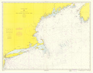 West Quoddy Head to New York 1965 Nautical Map 1:675,000 sc Reprint BA 70