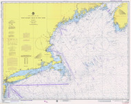West Quoddy Head to New York 1975 Nautical Map 1:675,000 sc Reprint BA 70 (13006)