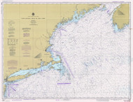 West Quoddy Head to New York 1982 Nautical Map 1:675,000 sc Reprint BA 70 (13006)