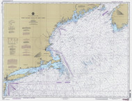 West Quoddy Head to New York 1994 Nautical Map 1:675,000 sc Reprint BA 70 (13006)