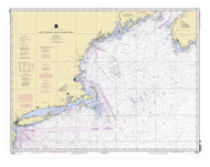 West Quoddy Head to New York 2003 Nautical Map 1:675,000 sc Reprint BA 70 (13006)