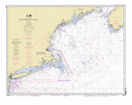 West Quoddy Head to New York 2012 Nautical Map 1:675,000 sc Reprint BA 70 (13006)