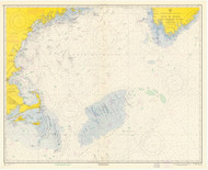 Gulf of Maine to Georges Bank 1960 Nautical Map 1:500,000 sc Reprint BA 71