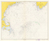 Gulf of Maine to Georges Bank 1965 Nautical Map 1:500,000 sc Reprint BA 71