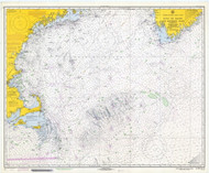 Gulf of Maine to Georges Bank 1970 Nautical Map 1:500,000 sc Reprint BA 71