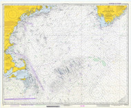 Gulf of Maine to Georges Bank 1973 Nautical Map 1:500,000 sc Reprint BA 71