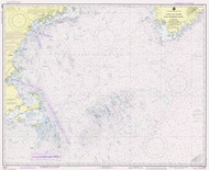 Gulf of Maine to Georges Bank 1980 Nautical Map 1:500,000 sc Reprint BA 71 (13009)