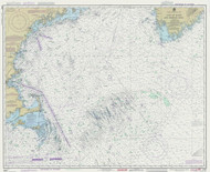 Gulf of Maine to Georges Bank 1989 Nautical Map 1:500,000 sc Reprint BA 71 (13009)