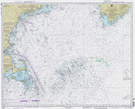 Gulf of Maine to Georges Bank 1995 Nautical Map 1:500,000 sc Reprint BA 71 (13009)