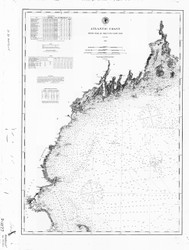 Isle au Haut to Cape Cod 1880 AC Nautical - 1:400,000 Chart 6