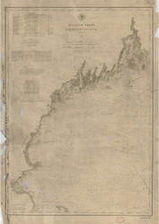 Isle au Haut to Cape Cod 1881 AC Nautical - 1:400,000 Chart 6