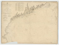 Quoddy Head to Cape Cod 1895 AC Nautical - 1:400,000 Chart 6